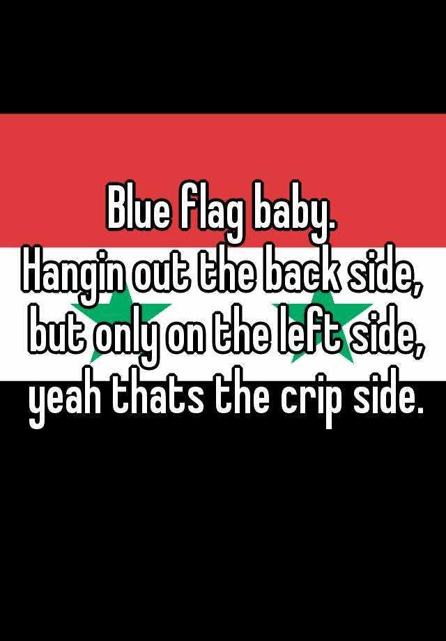 Crip Flag Side