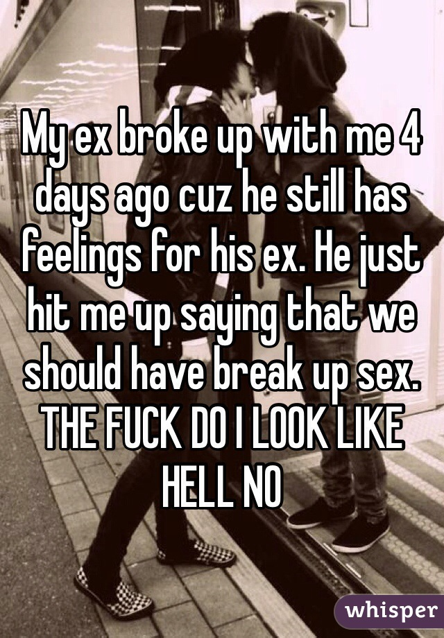 Just hit me up when you need sex