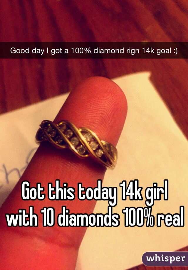 Got this today 14k girl with 10 diamonds 100% real