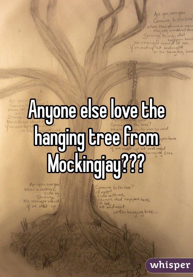 Anyone else love the hanging tree from Mockingjay???