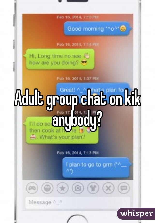 Adult chat on kik