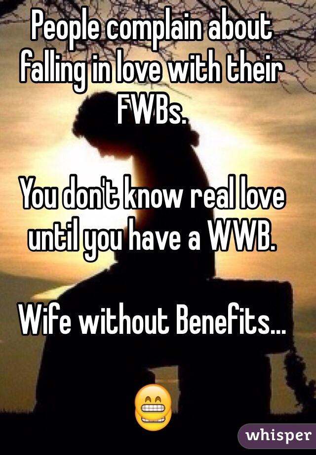 Jeg forstår ikke FWB'er