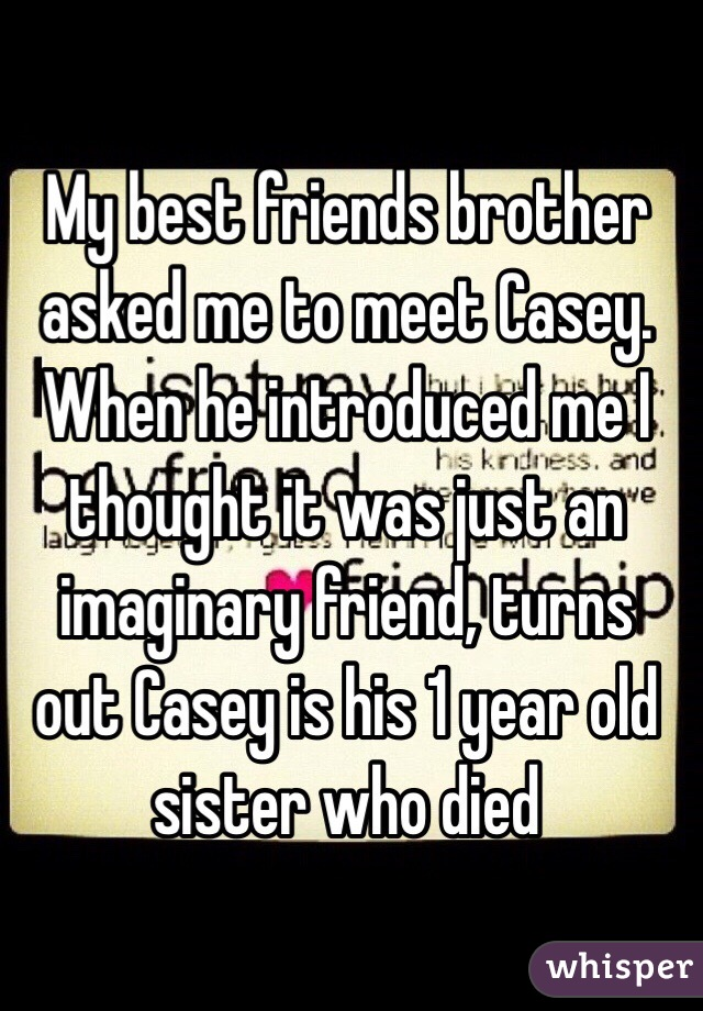 he introduced me as a friend
