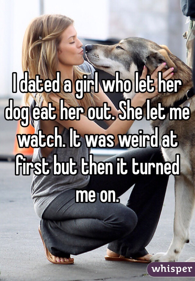 girl lets dog lick her