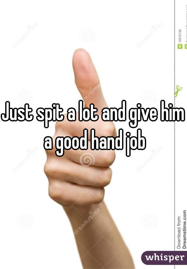 Hand job just