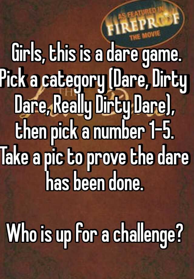 Dirty dares to do to yourself