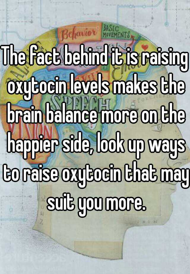 how to increase oxytocin levels
