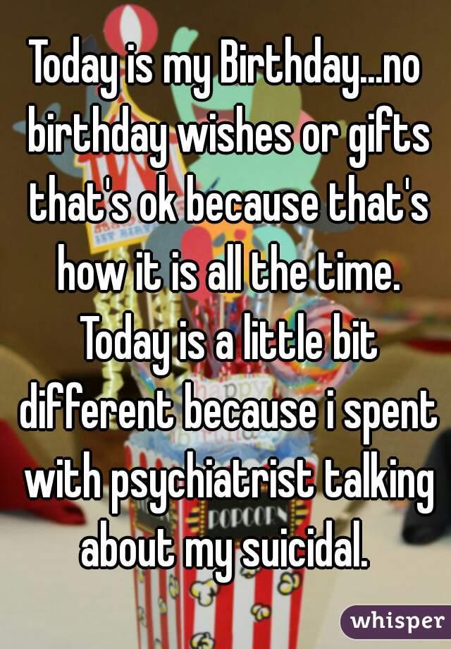 No birthday wishes