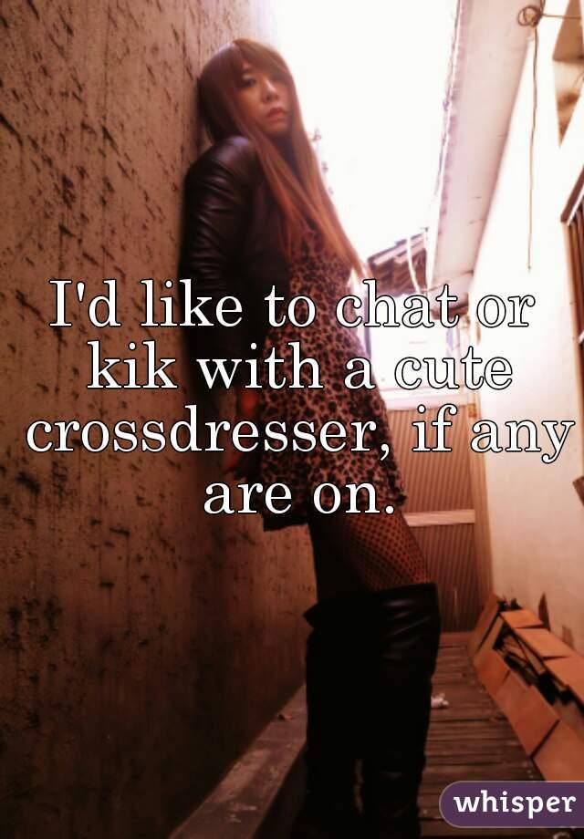 Crossdresser Kik