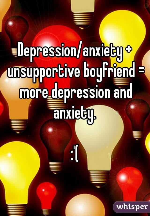 Depression unsupportive partner