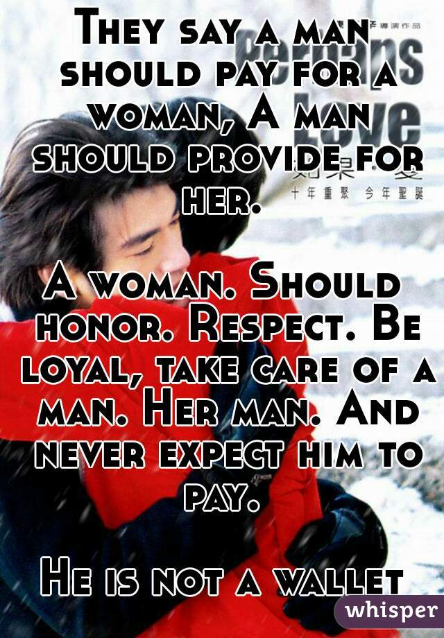 What A Woman Should Expect From A Man