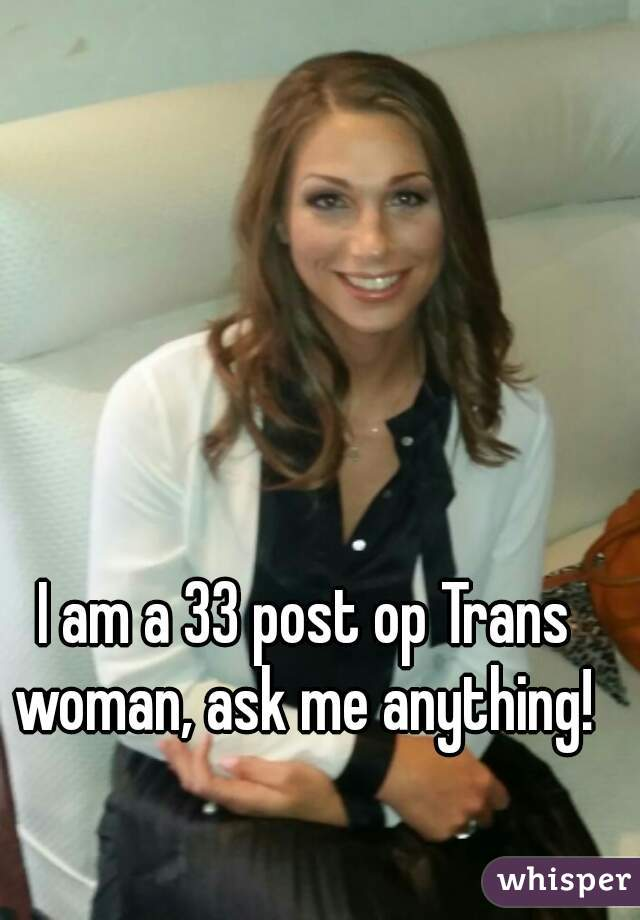 Post op transsexual woman
