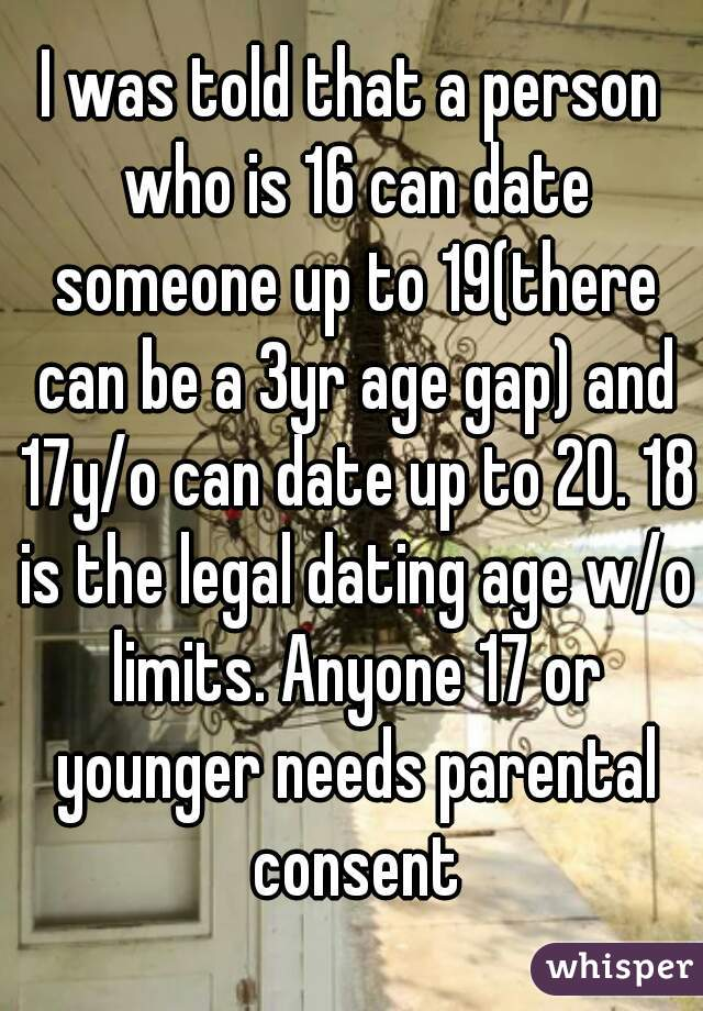 What is the legal age for dating someone over 18