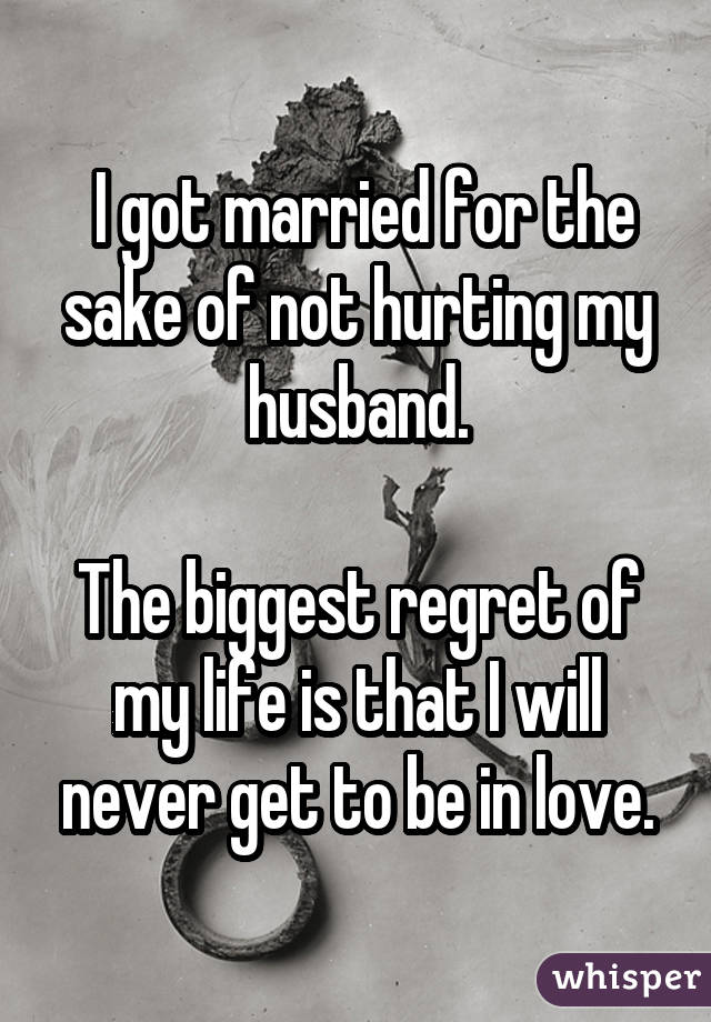 I regret marrying my husband