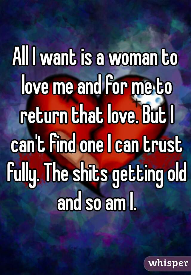 I Want A Woman Who Will Love Me