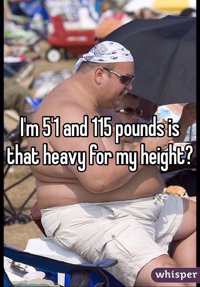 I'm 5'1 and 115 pounds is that heavy for my height?