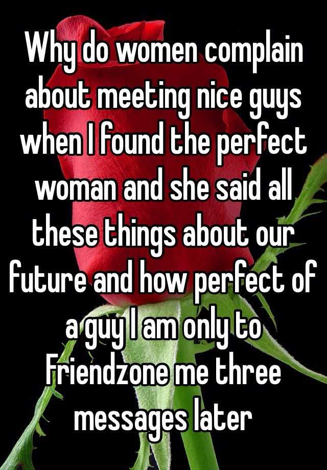 Meeting the perfect woman