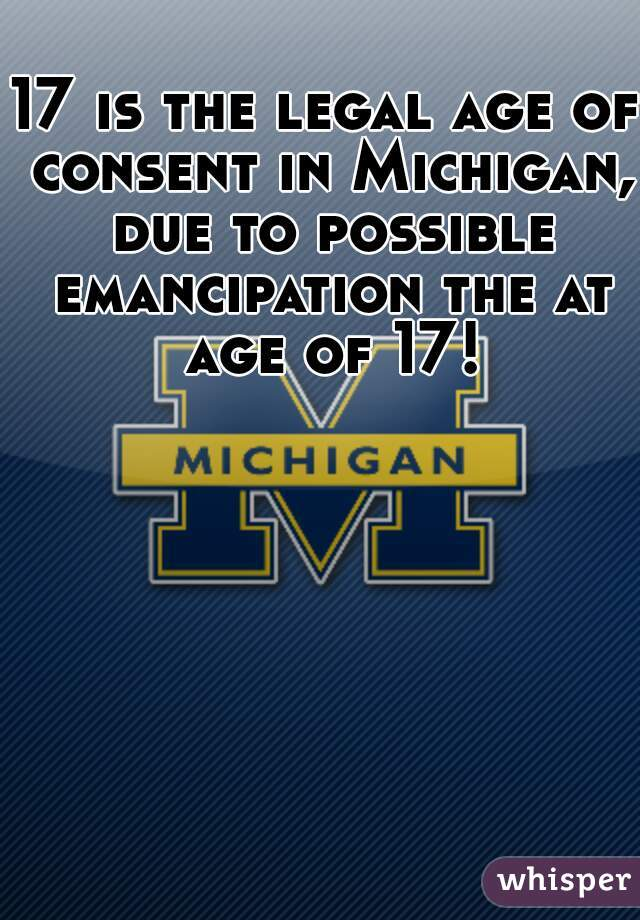 Legal Age To Have Sex In Michigan
