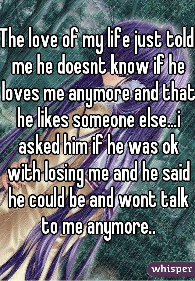 signs he is talking to someone else