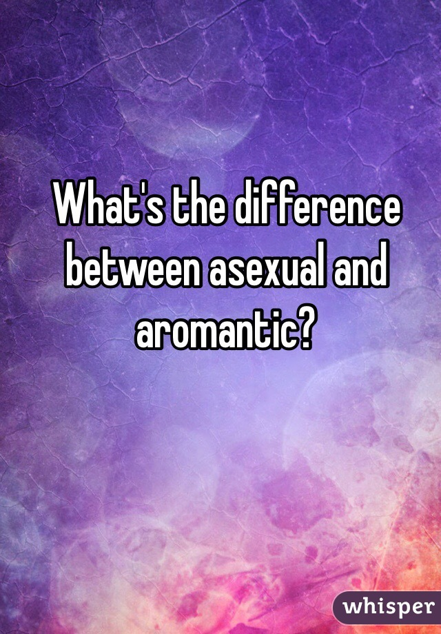 Difference between aromantic and asexual