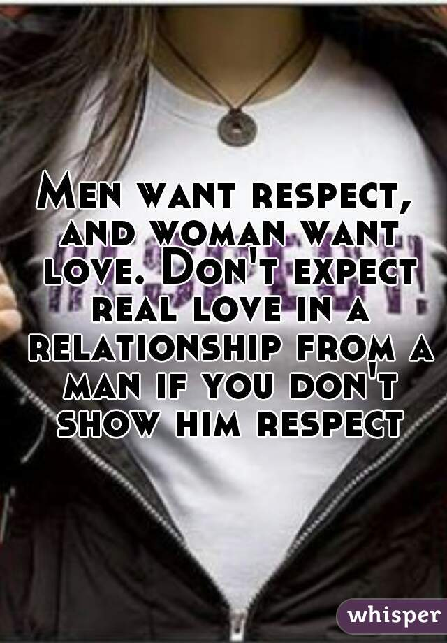 How to show a man respect in a relationship