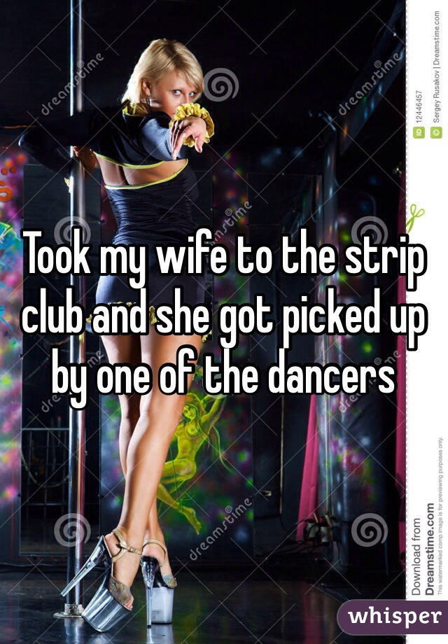 to club wife Taking strip