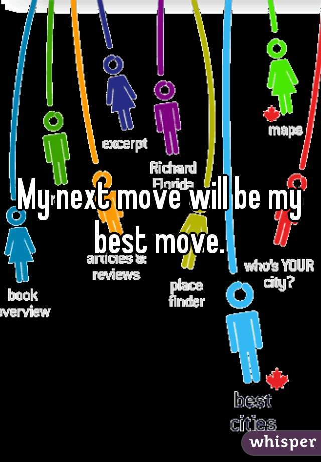 move be? should my next What