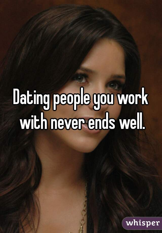 Dating people from work