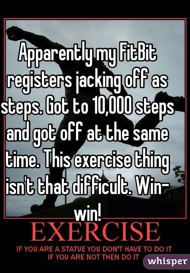 Jerk off exercise