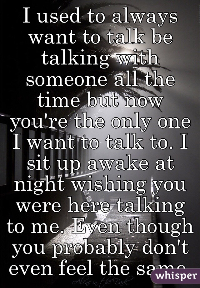 I Want To Talk To You Now