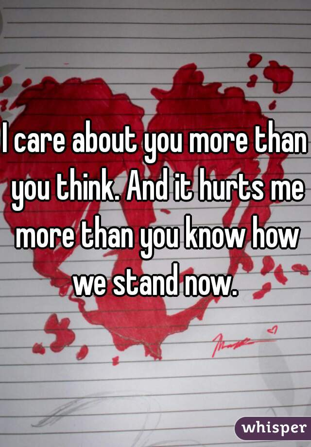 i love you more than you know
