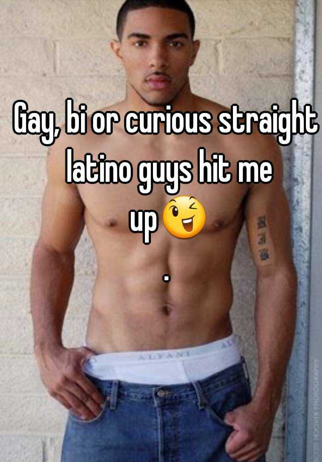 Straight latino men