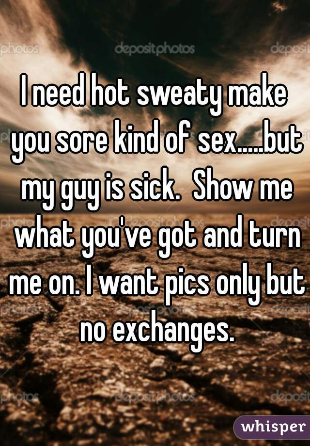 I need hot sex