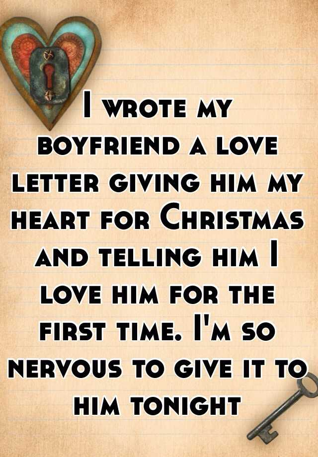 Christmas letter for boyfriend
