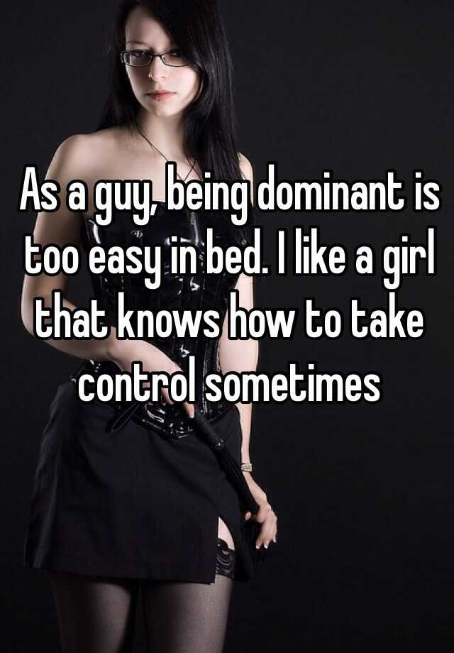being dominant in bed