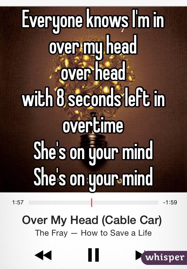 i m over my head