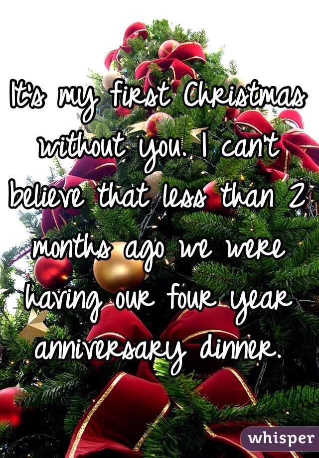 Christmas Without You.It S My First Christmas Without You I Can T Believe That