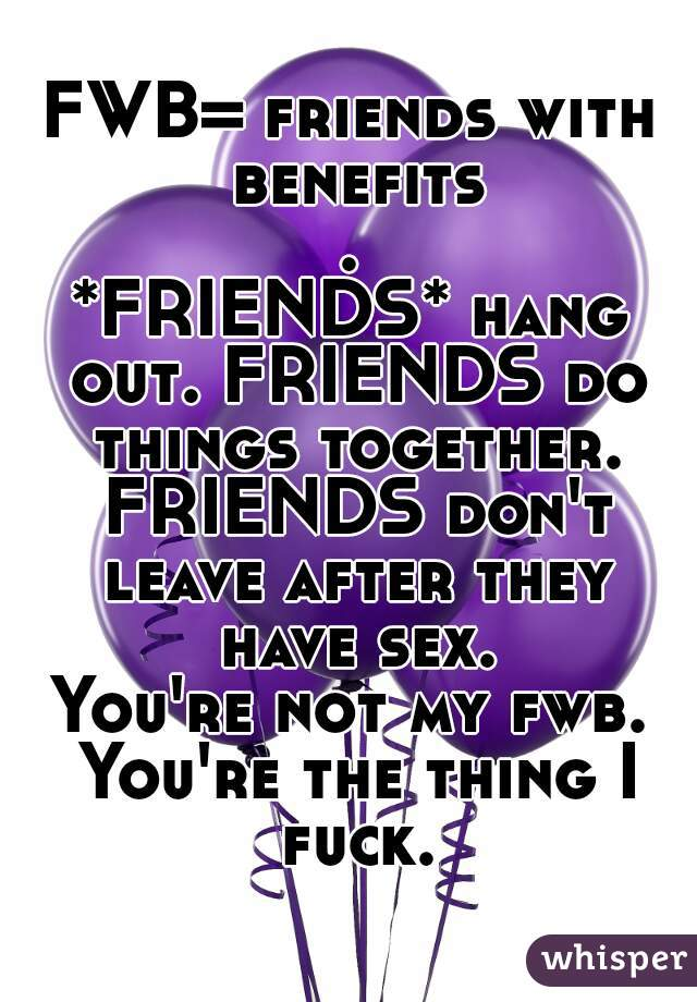 What do friends with benefits do together