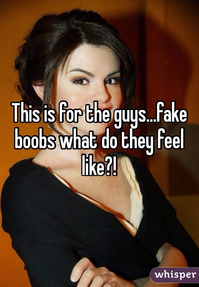 Fake boobs that feel real