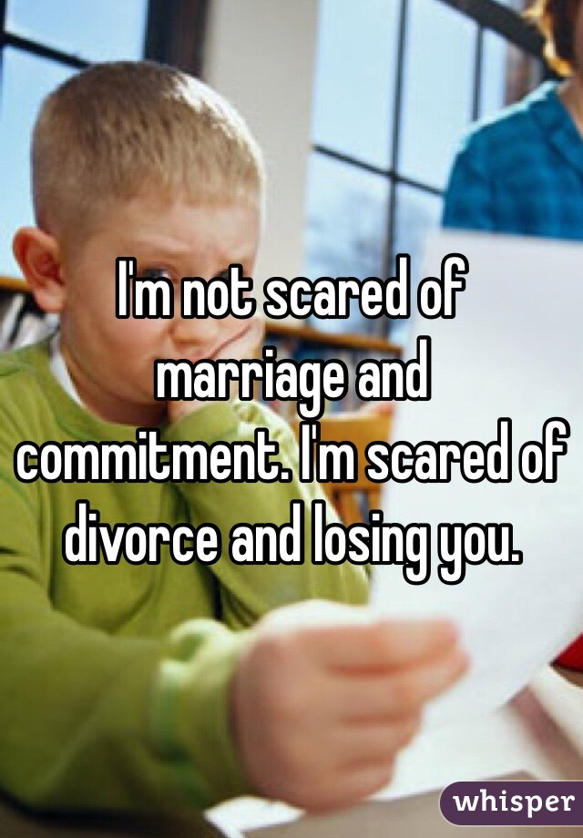Scared of commitment after divorce