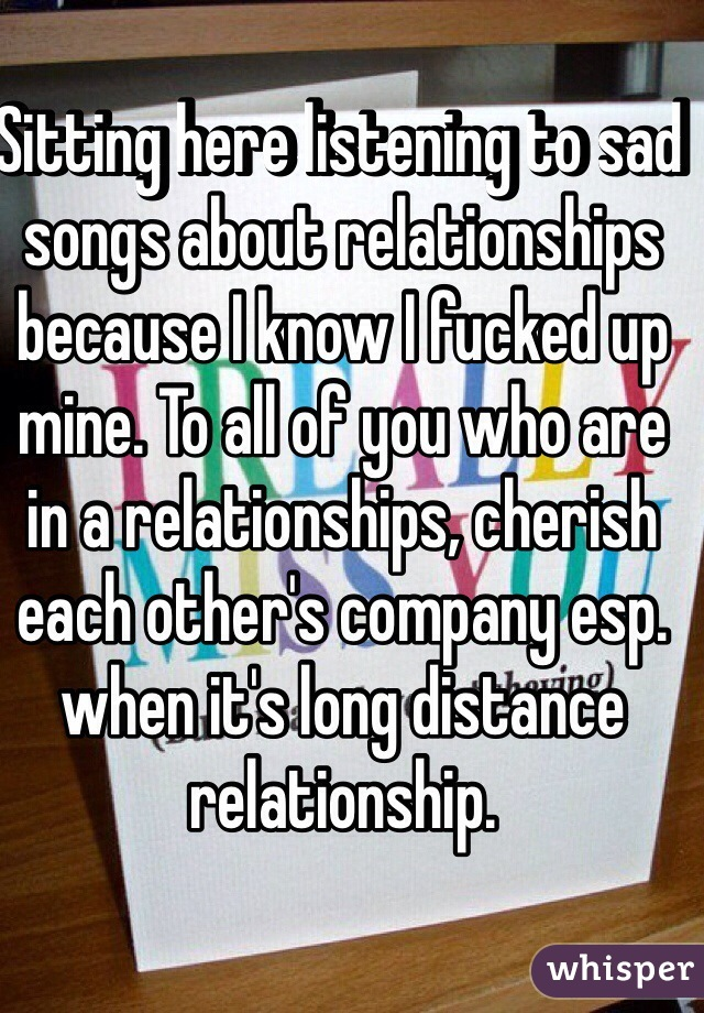 Songs that talk about relationships