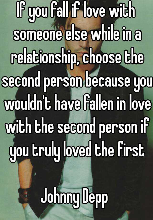 falling in love with someone while in a relationship