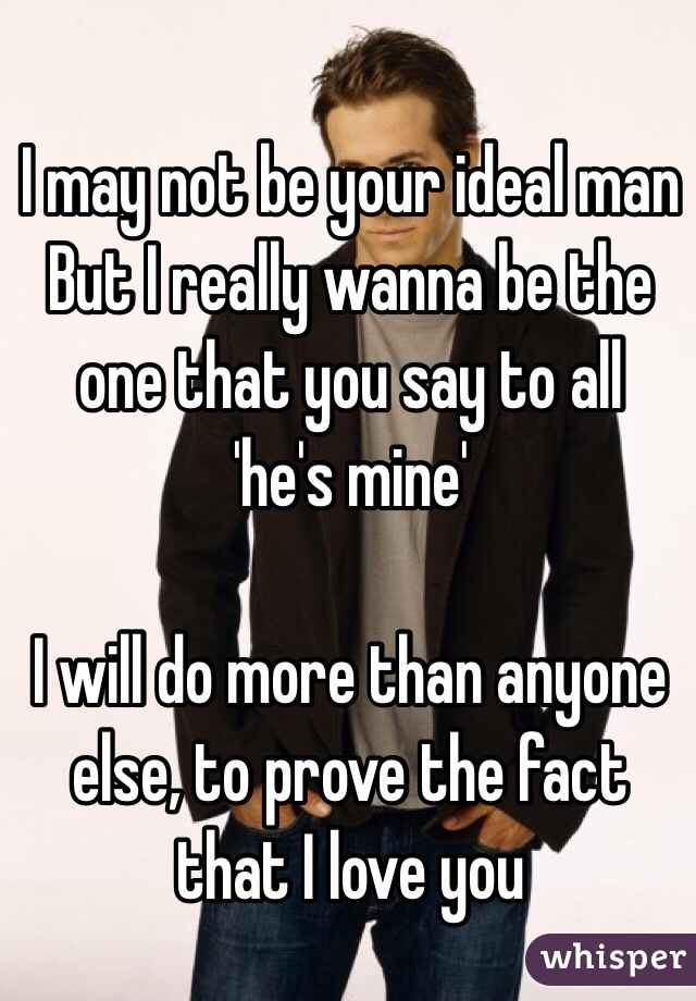 your ideal man