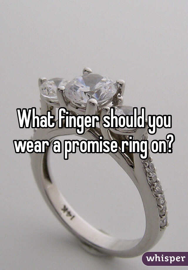 where should you wear a promise ring