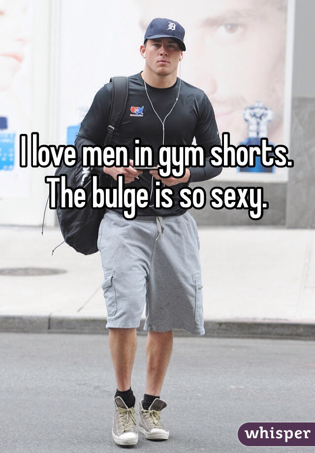 with in shorts gym bulge Guy