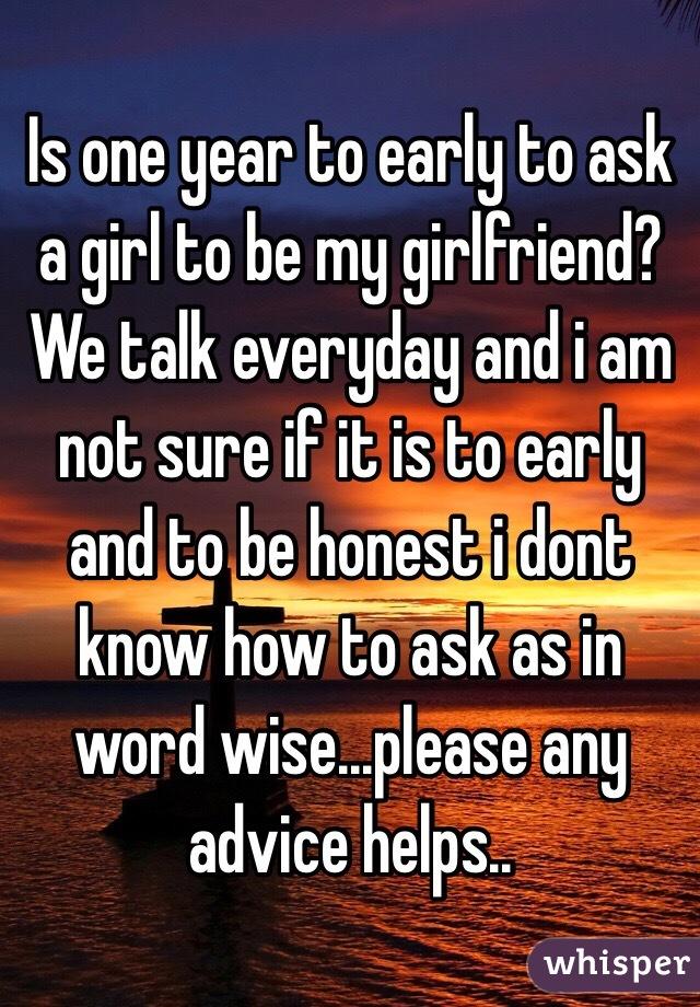 Word of advice to my girlfriend