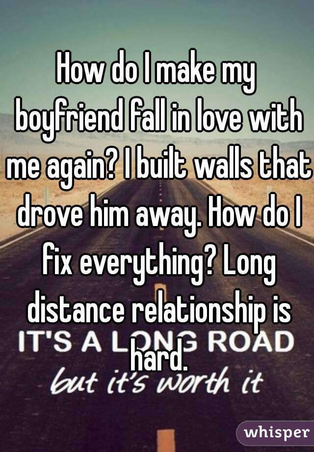 how do i fix my relationship with my boyfriend