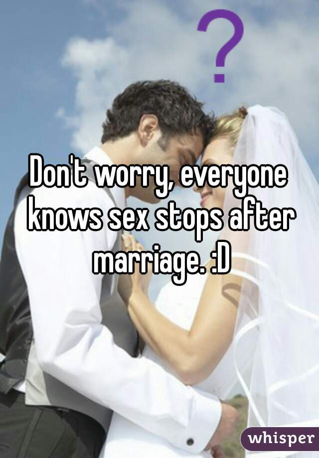 Is maariage over when sex stops