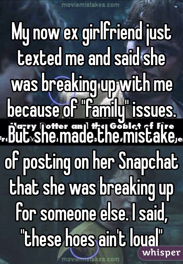 breaking up because of family issues