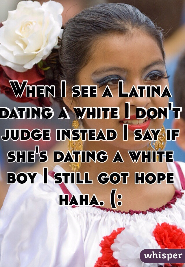 Dating a white boy
